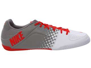 Nike5 Youth Elastico Indoor Soccer Shoes Max Orng/Medium Grey/White