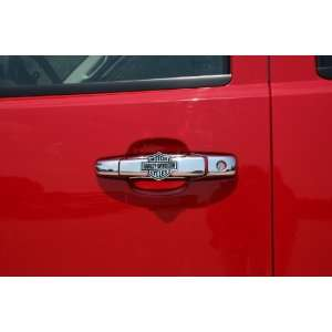 Harley Davidson Chrome Door Handle Covers   Bar And Shield Style