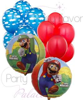 Super Mario Bros. Balloon Bouquet Mylar Balloon