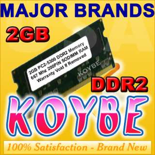 2GB DDR2 SODIMM PC 5300 667MHz HP Dell APPLE Laptop RAM