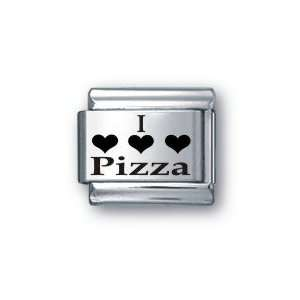 Body Candy Italian Charms Laser I Love Pizza: Jewelry