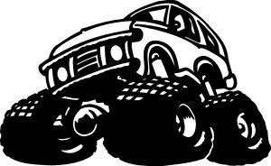 MONSTER TRUCK COOL JACKED UP MUDDER MUD FAST STICKER/DECAL CHOOSE SIZE