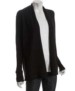 CeCe black cashmere back seam cardigan sweater