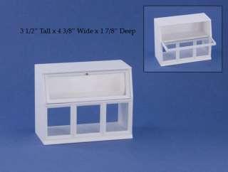 Dollhouse Miniature White Shop Display Case #C1009W