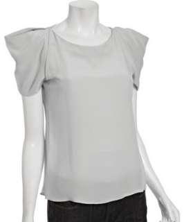 Geren Ford frost silk open shoulder blouse