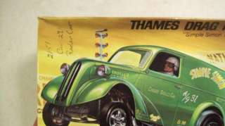 1966 Vintage Revell THAMES DRAG PANEL VAN SIMPLE SIMON Model Car Kit w