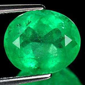 73 Ct. Oval Oval Natural Rich Green Emerald Columbia