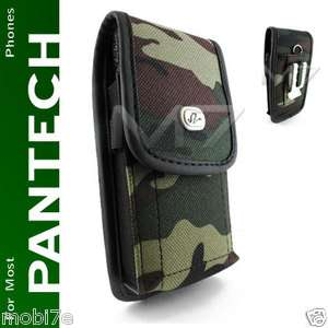 CAMOUFLAGE RUGGED POUCH CASE 4 PANTECH PHONE COVER w/ METAL BELT CLIP