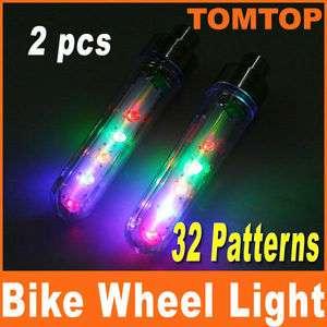 pcs Bike Bicycle Car Motorcycle 5 LED Flash Tire Wheel Spoke Light