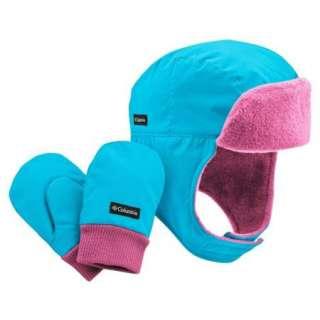 Hat & Mittens Set Infant Toddler Girls Pink & Blue 824648198833