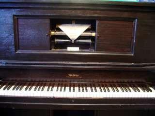 VINTAGE UPRIGHT PLAYER PIANO MODELLO CINCINNATI CHICAGO