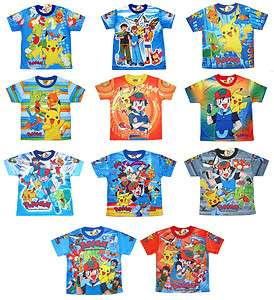 Pokemon Kids Boys T Shirt Top Clothes ANY DESIGN/SIZE