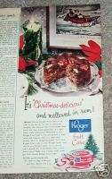 1951 KROGER food grocery store Fruit Cake Christmas AD