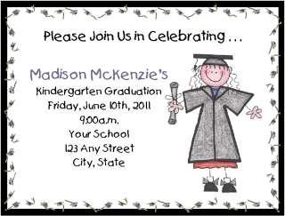 Grade School/Kindergarten Graduation/Party Invitations