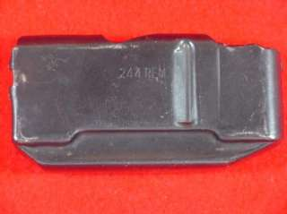 is a Remington .244/6mm magazine for model 740 and possibly 760. Mag