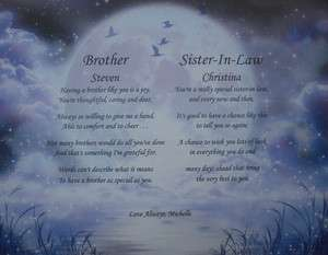 SISTER IN LAW PERSONALIZED POEMS THOUGHTFUL CHRISTMAS CARD GIFT IDEA