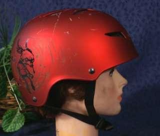 Nice Red Metallic GIRO FLAK Ski Snowboard Helmet S 51 55cm