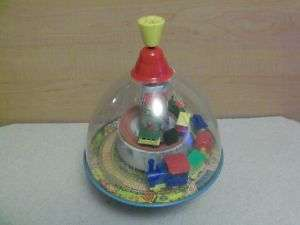Germany Lillian Vernon Domed Spinning Top Toy Tin