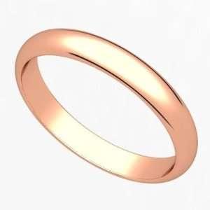 2.5 Millimeters Rose Gold Polished Wedding Band Ring 14Kt Gold