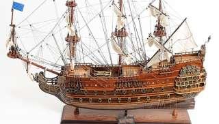 Soleil Royal Wooden Tall Ship Sailboat Model 36 Boat