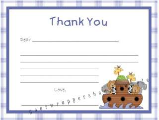 20 NOAHS ARK BABY Shower Birthday Thank you card Notes
