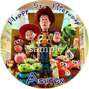 TOY STORY 3 Round Edible CAKE Image Icing Topper