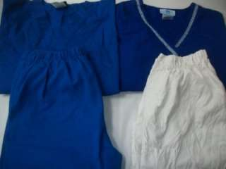 Medical Dental Scrubs Vet Lot 7 SOLID Outfits Sets Sz XS EXTRA SMALL