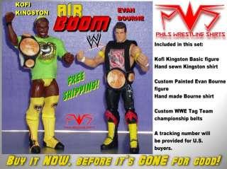 WWF WWE Kofi Kingston Evan Bourne Air Boom Action Figure Custom Toy