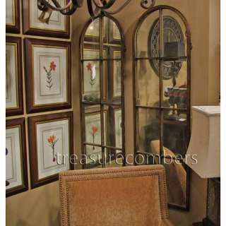 Large Floor Wall MIRROR Amiel Metal Arch Mantle TALL XL