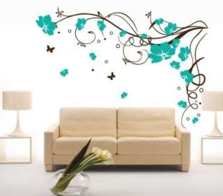 NEW Butterfly Vine Flower Art Wall Stickers / Wall Decals /House decor