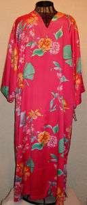 Natori Pink Satin Gown Lounge Dress Womens size M XL