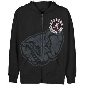 Alabama Crimson Tide Youth Black Zippity Full Zip Hoody