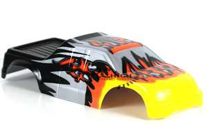 SCALE RC MONSTER TRUCK BODY WITH STICKER SHEET