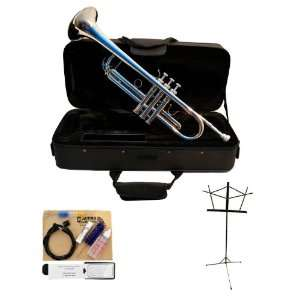 Bb Trumpet Package with Complete Care Kit, Music Sand and Deluxe Case
